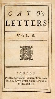 Cover of: Cato's letters