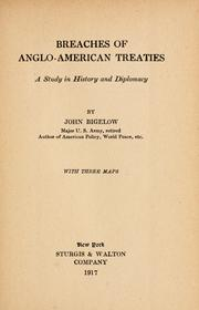 Cover of: Breaches of Anglo-American treaties