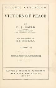 Cover of: Victors of peace