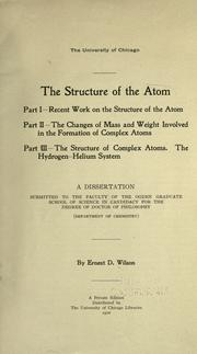 Cover of: The structure of the atom