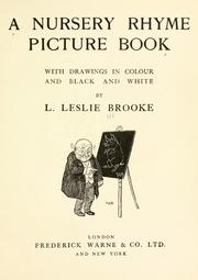 Cover of: A nursery rhyme picture book, [no.1]