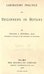 Cover of: Laboratory practice for beginners in botany