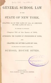 Cover of: General school law of the state of New York