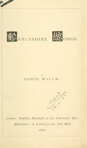 Cover of: Lancashire songs