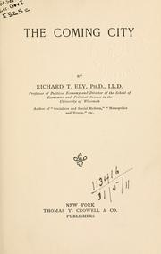 Cover of: The coming city