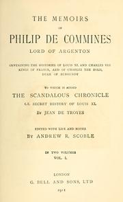 Cover of: The memoirs of Philippe de Commines