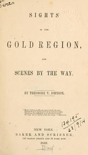 Cover of: Sights in the gold region