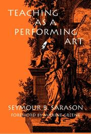 Cover of: Teaching As a Performing Art