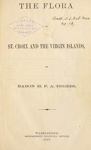 Cover of: The flora of St. Croix and the Virgin Islands