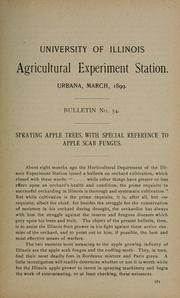 Cover of: Spraying apple trees, with special reference to apple scab fungus