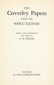 Cover of: Coverley Papers from the Spectator