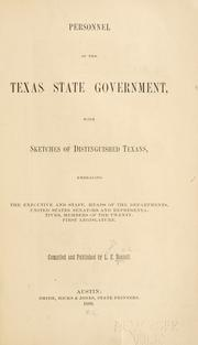 Personnel of the Texas state government by L. E. Daniell