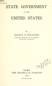 Cover of: State government in the United States