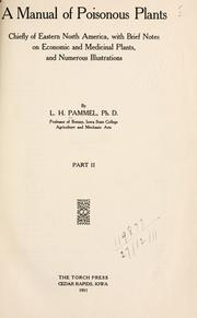 A manual of poisonous plants by L. H. Pammel