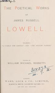Cover of: Poetical works: including the Bigelow papers.