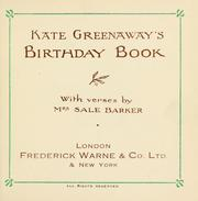 Cover of: Kate Greenaway's birthday book