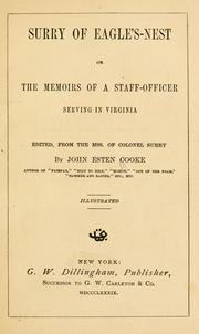 Cover of: Surry of Eagle's-nest: or, The memoirs of a staff-officer serving in Virginia
