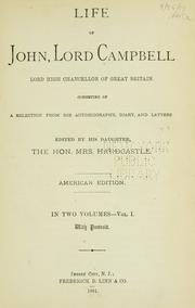 Cover of: Life of John, Lord Campbell