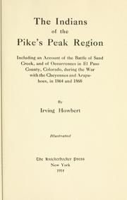 Cover of: The Indians of the Pike's peak region