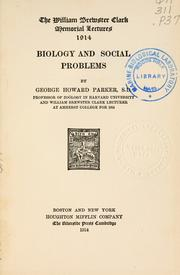 Cover of: Biology and social problems