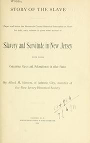 Cover of: Story of the slave