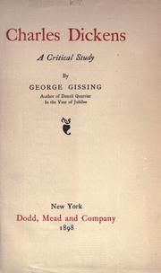 Cover of: Charles Dickens | George Gissing