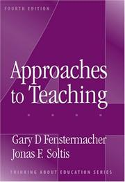 Cover of: Approaches to teaching