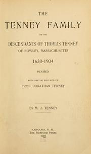 Cover of: The Tenney family | M. J. Tenney