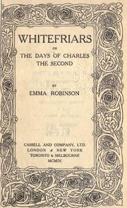 Cover of: Whitefriars, or, The days of Charles the Second
