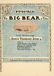 Cover of: Monarch, the big bear of Tallac