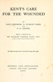 Cover of: Kent's care for the wounded