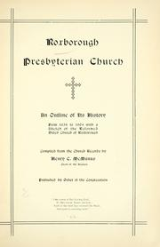 Cover of: Roxborough Presbyterian Church