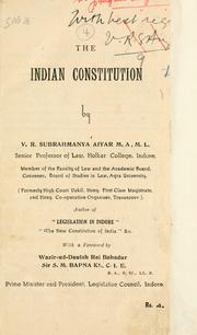 Cover of: The Indian constitution