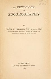 Cover of: A text-book of zoogeography