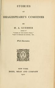 Cover of: Stories of Shakespeare's comedies