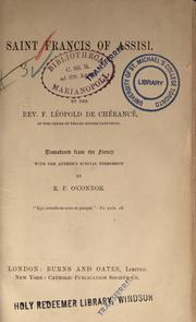 Cover of: Saint Francis of Assisi | Léopold de Chérancé