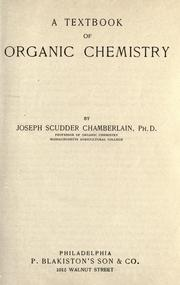 Cover of: A textbook of organic chemistry