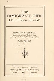 Cover of: The immigrant tide: its ebb and flow