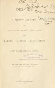 Cover of: Desmids of the United States and list of American pediastrums