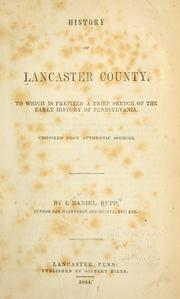 Cover of: History of Lancaster County by I. Daniel Rupp