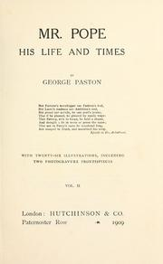 Cover of: Mr. Pope, his life and times