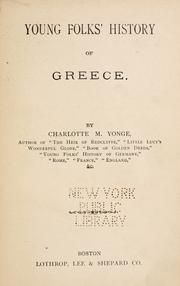 Cover of: Young folks' history of Greece