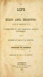 Cover of: The life of Elder Abel Thornton