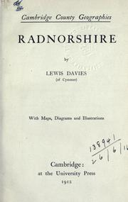 Cover of: Radnorshire