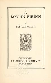 Cover of: A boy in Eirinn