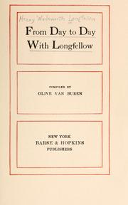 Cover of: From day to day with Longfellow by Henry Wadsworth Longfellow
