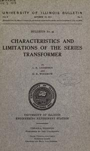 Cover of: Characteristics and limitations of the series transformer