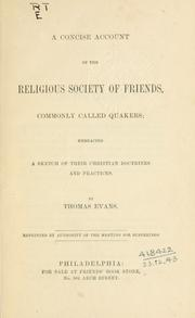 Cover of: A concise account of the religious Society of Friends