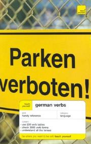 Cover of: Teach Yourself German Verbs | Silvia Robertson