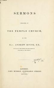 Cover of: Sermons preached at the Temple Church